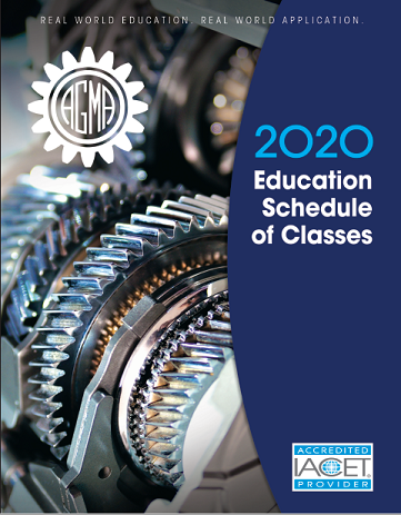AGMA 2020 Schedule of Classes Brochure Cover
